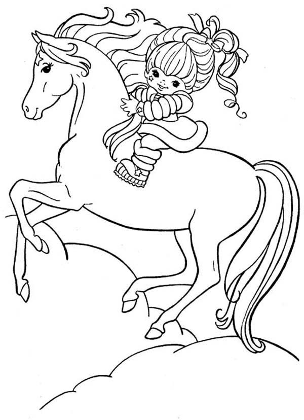 Rainbow Brite, : Rainbow Brite and Her Hosre Starlite Coloring Page