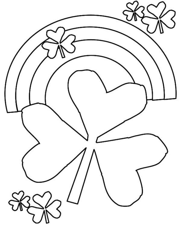 Nature, : Rainbow of Nature Coloring Page