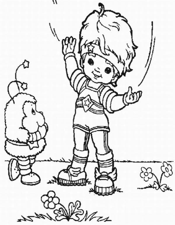 Rainbow Brite, : Red Butler Tell Twink a Story in Rainbow Brite Coloring Page