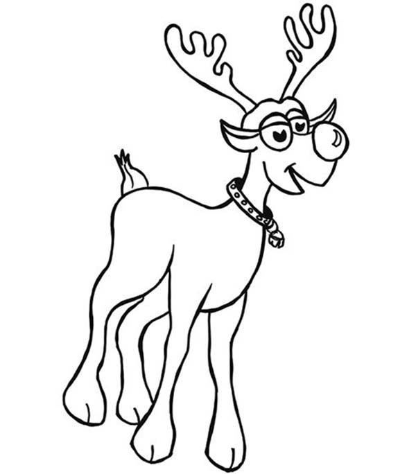 Rudolph, : Rudolph the Red Nosed Reindeer Coloring Page for Kids