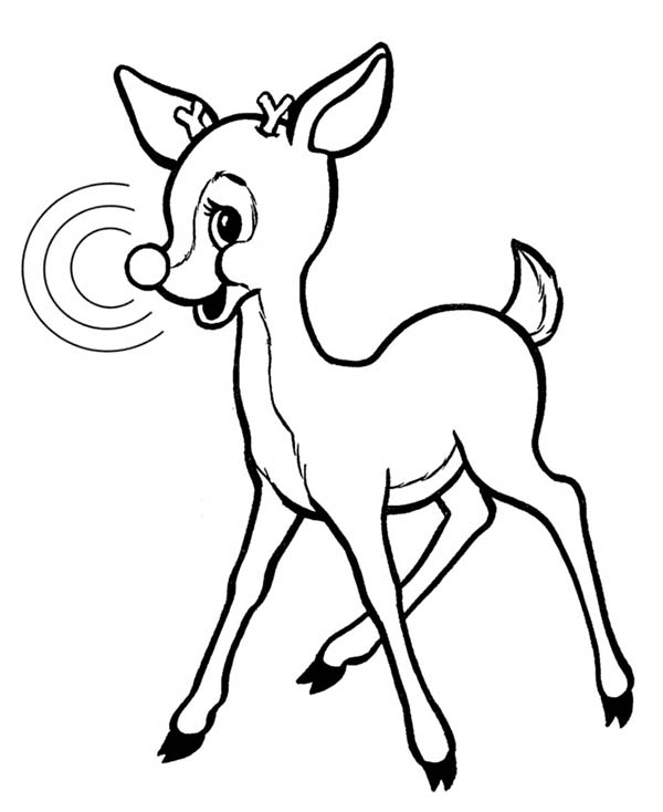 Christmas Coloring Pages Of Rudolph The Red Nosed Reindeer