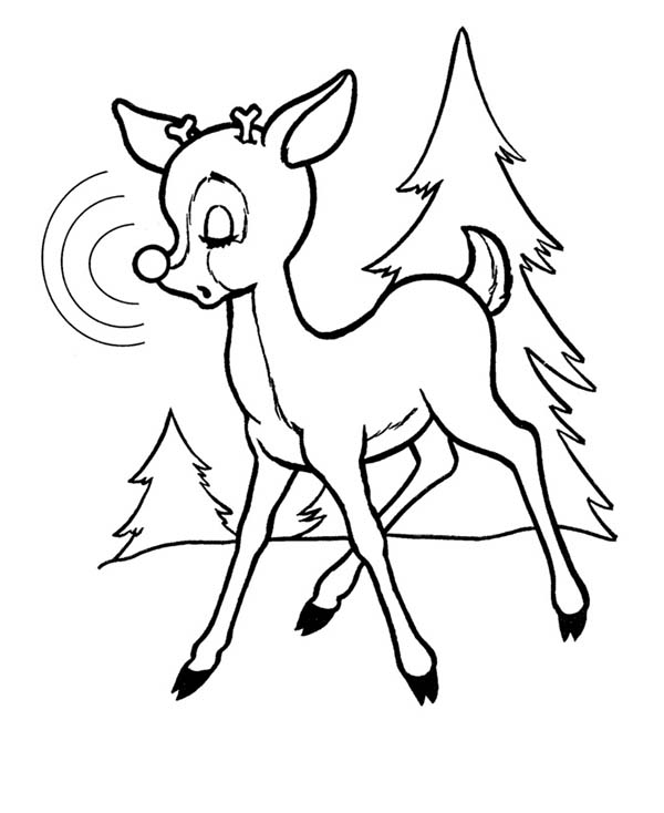 Rudolph, : Rudolph the Red Nosed Reindeer Feel Sleepy Coloring Page