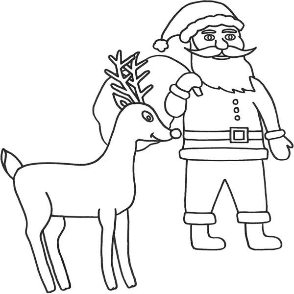 Rudolph, : Rudolph the Santas 9th Reindeer Coloring Page