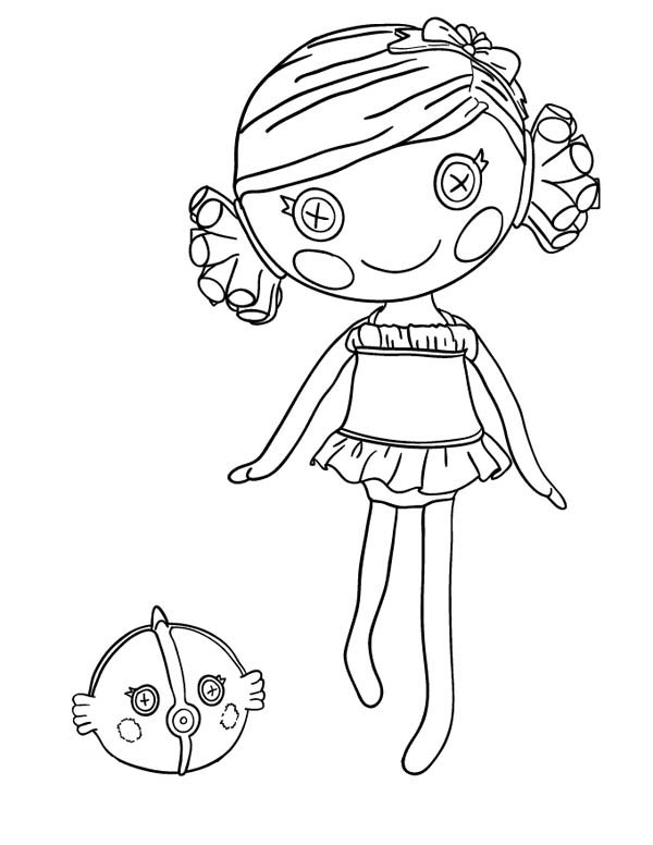 Sand E Starfish from Lalaloopsy Coloring Page Color Luna