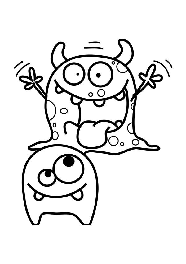 scary monster coloring page scary monster coloring page color luna
