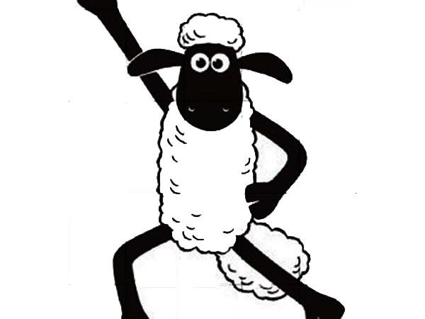 Shaun the Sheep, : Shaun the Sheep Winning Pose Coloring Page