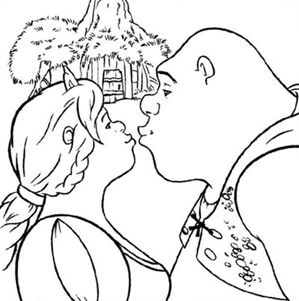 kiss coloring pages - kissing coloring gallery