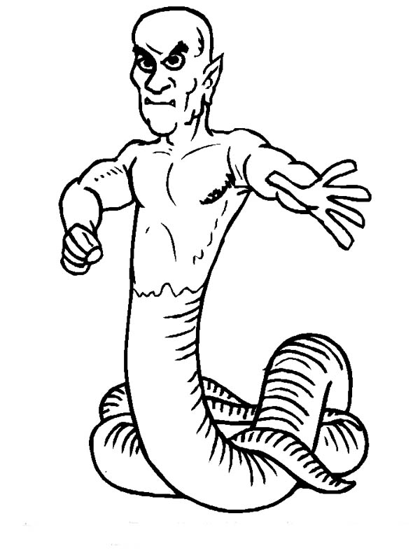 monster snake coloring pages - photo#6