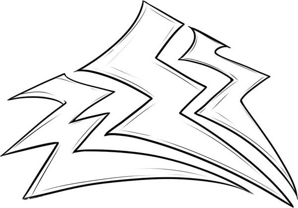 lightning bolt coloring pages | Storm Lighting Bolt Coloring Page | Color Luna