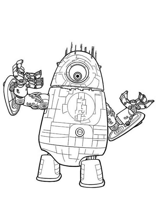 Monsters vs Aliens, : Super Aliens Robot in Monster vs Aliens Coloring Page