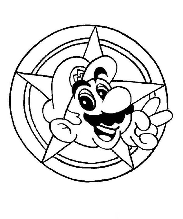 Super Mario Brothers Galaxy Coloring Page Color Luna