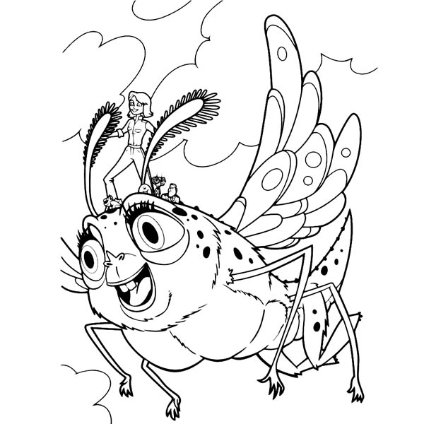monsters vs aliens susan ride insectosaurus in monster vs aliens coloring page
