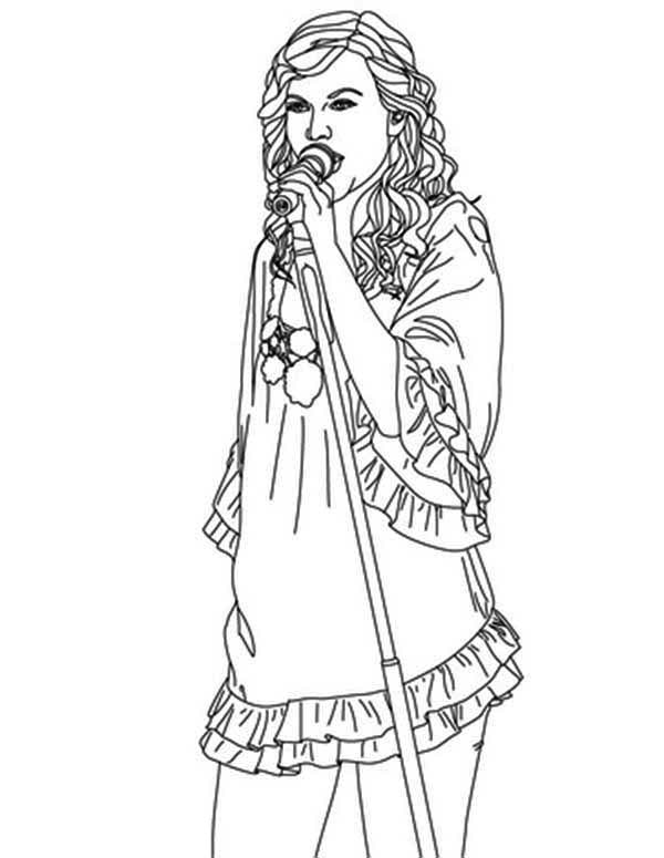taylor swift has an angel voice coloring page
