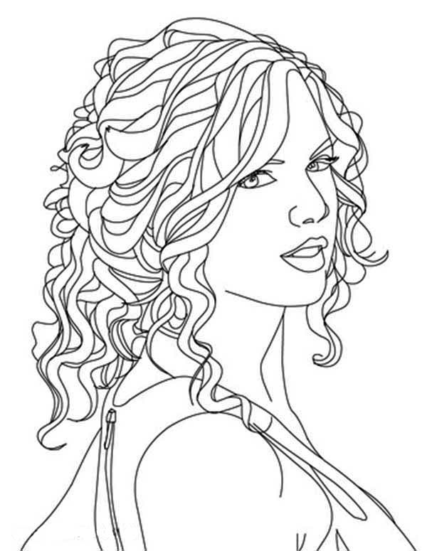 taylor swift image coloring page