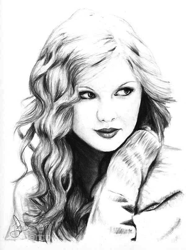 Taylor Swift My Favorite Singer Coloring Page Color Luna
