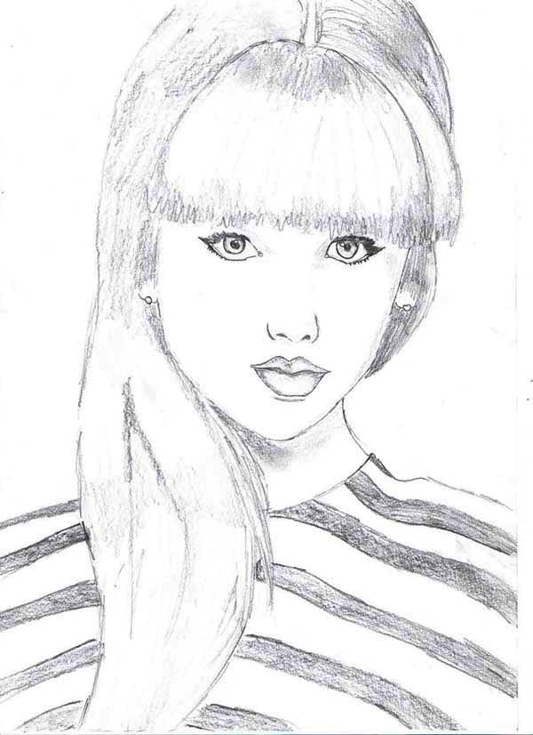 taylor swift picture coloring page