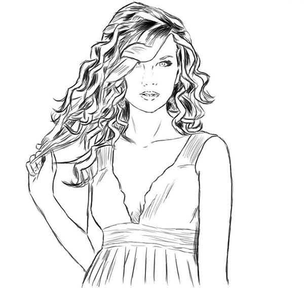Taylor Swift is so Amazing Coloring Page Color Luna