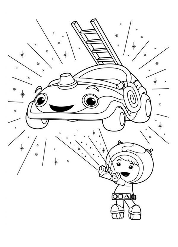Team Umizoomi, : Team Umizoomi Beloved Car Coloring Page