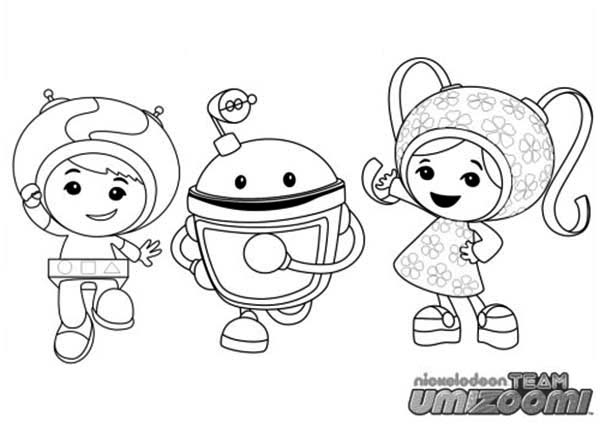 Team Umizoomi Coloring Page for Kids Color Luna