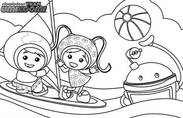Team Umizoomi Get Sail with Bot Coloring Page | Color Luna