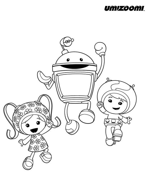 Milli and Geo say Hi in Team Umizoomi Coloring Page: Milli and Geo ...