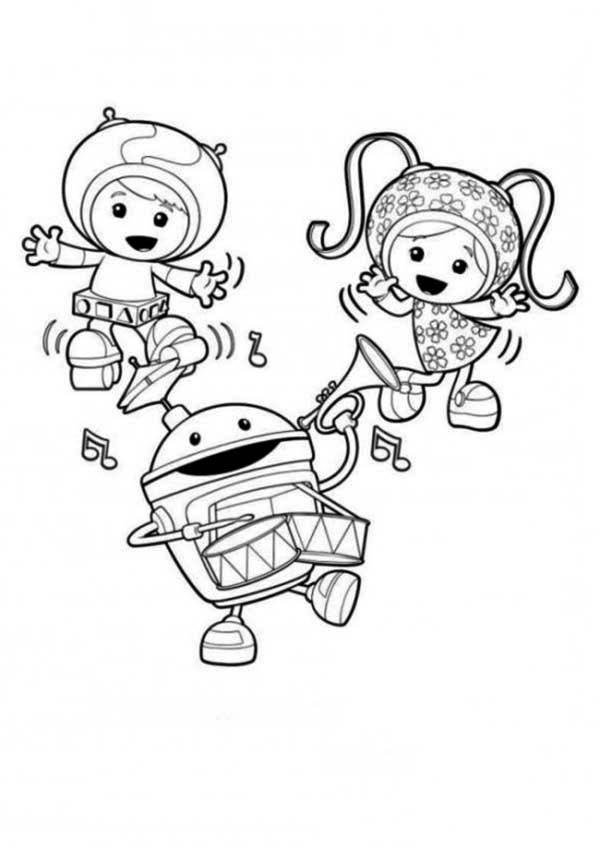 Team Umizoomi, : Team Umizoomi is Having Fun Together Coloring Page