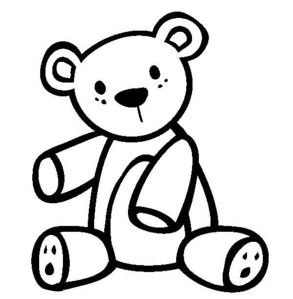 Teddy Bear Coloring Page for Kids | Color Luna