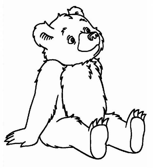 Teddy Bear, : Teddy Bear Day Dreaming Coloring Page