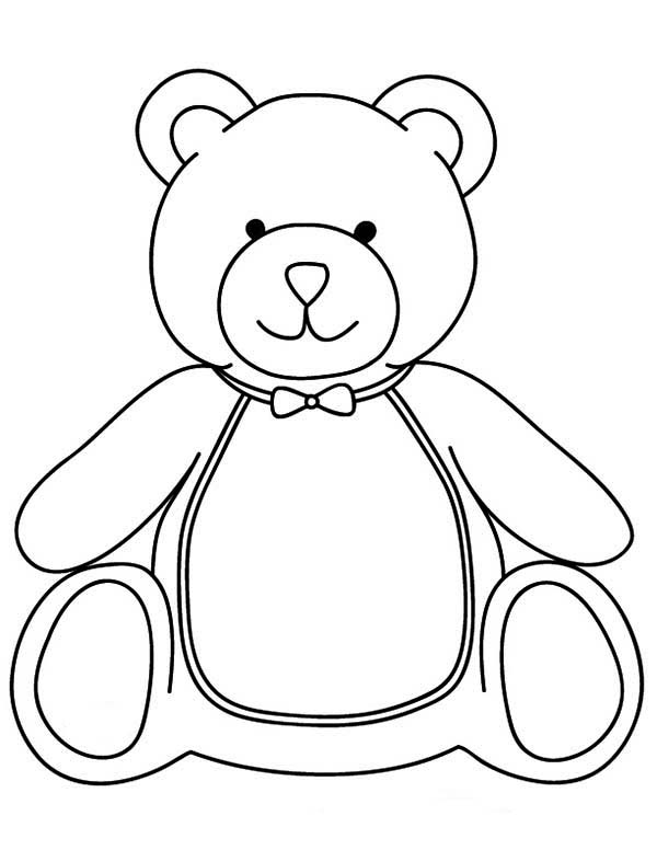 Teddy Bear, : Teddy Bear Want to Have Breakfast Coloring Page