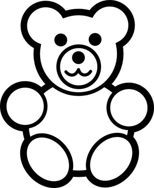 teddy bear for little brother coloring page