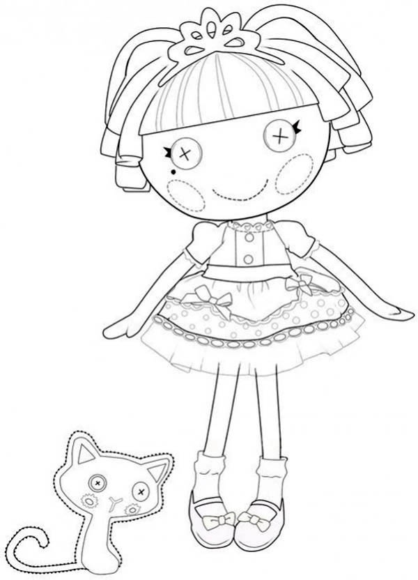 Lalaloopsy, : Thats Perfectly Perfect say Jewel Sparkles in Lalaloopsy Coloring Page