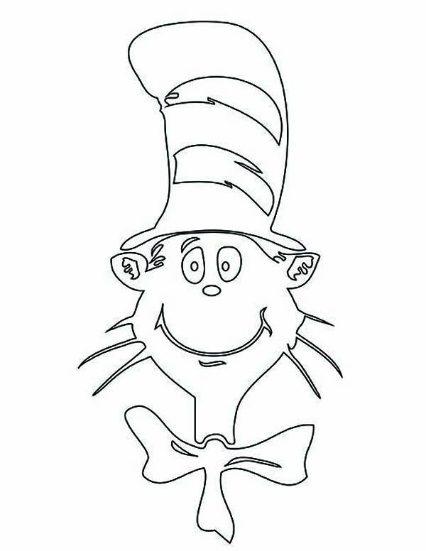 The Cat in the Hat, : The Cat in the Hat Picture Coloring Page