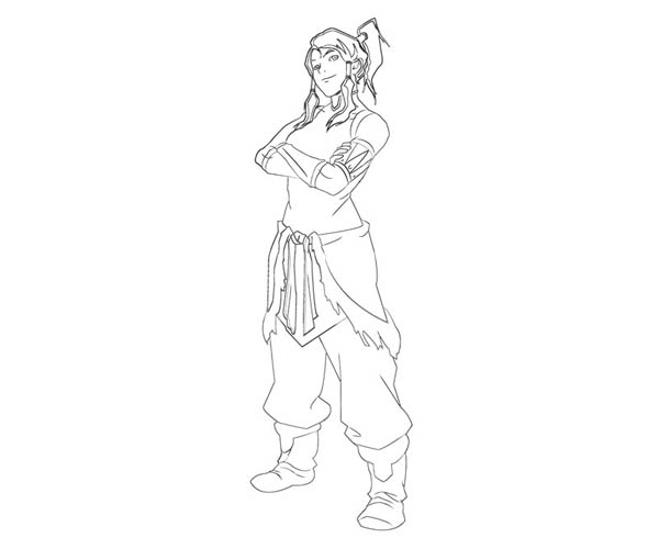 The Legend of Korra, : The Confident Korra Coloring Page