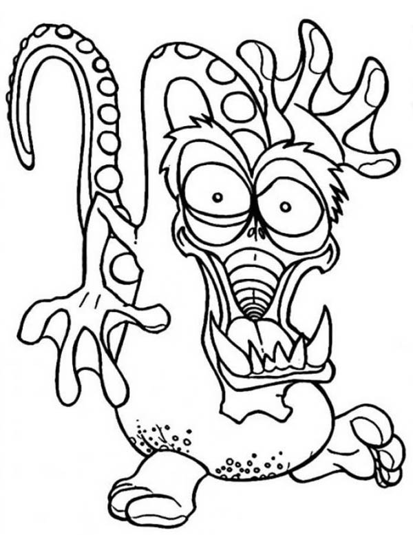 Monsters, : The Great Dragon Monster Coloring Page