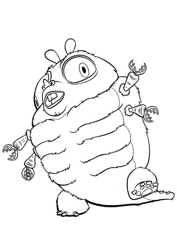 Monsters vs Aliens, : The Hhideous Insectosaurus in Monster vs Aliens Coloring Page