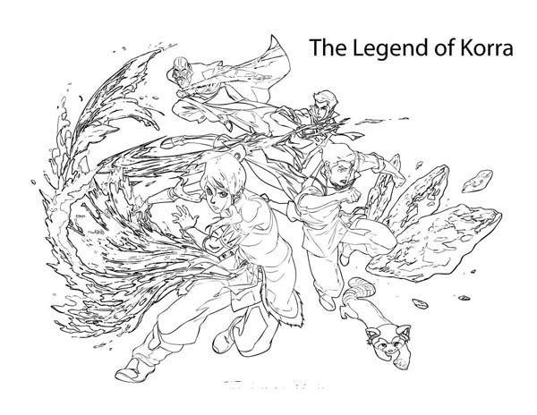 The Legend of Korra, : The Legend of Avatar Korra Coloring Page