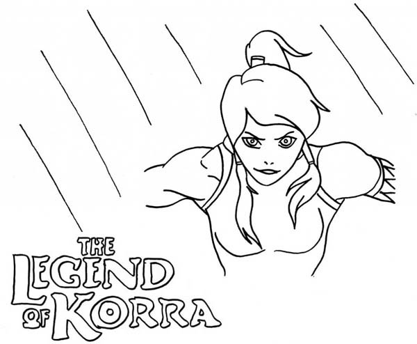The Legend of Korra, : The Legend of Korra Coloring Page