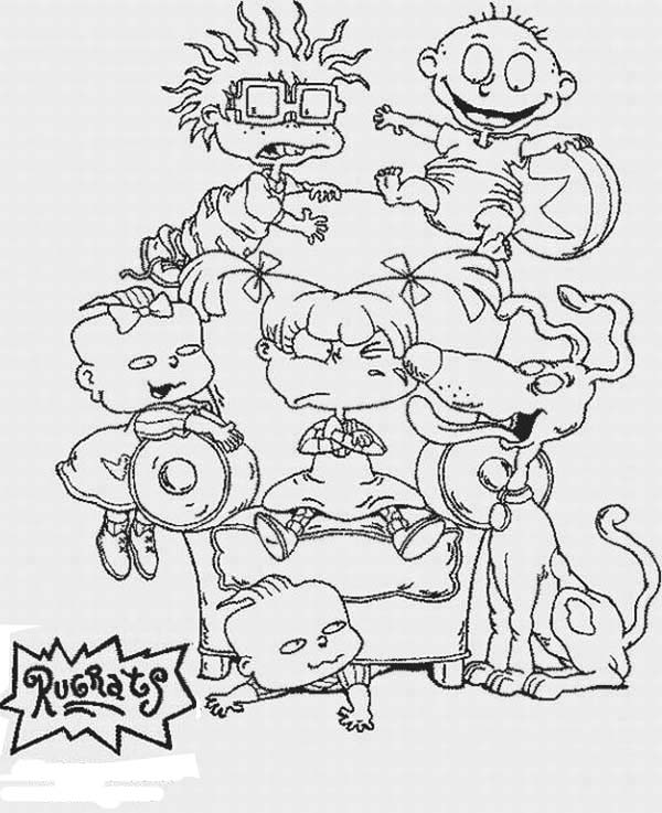 the rugrats coloring page for kids color luna - Rugrats Characters Coloring Pages
