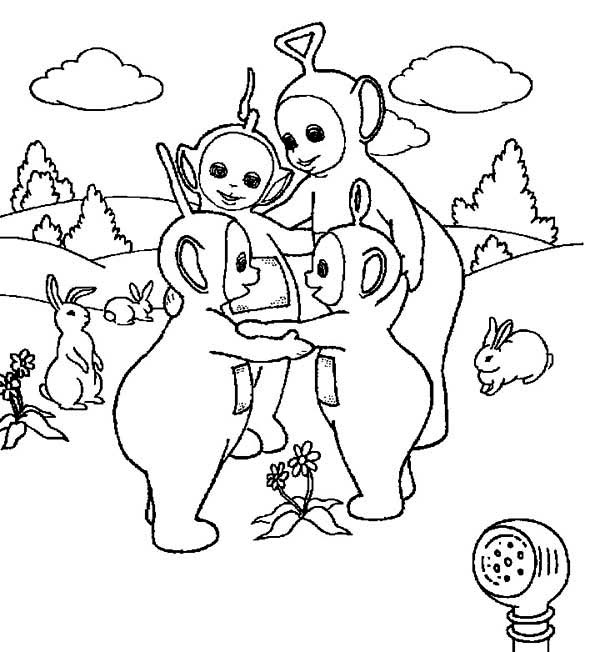 free coloring pages of teletubbies lion
