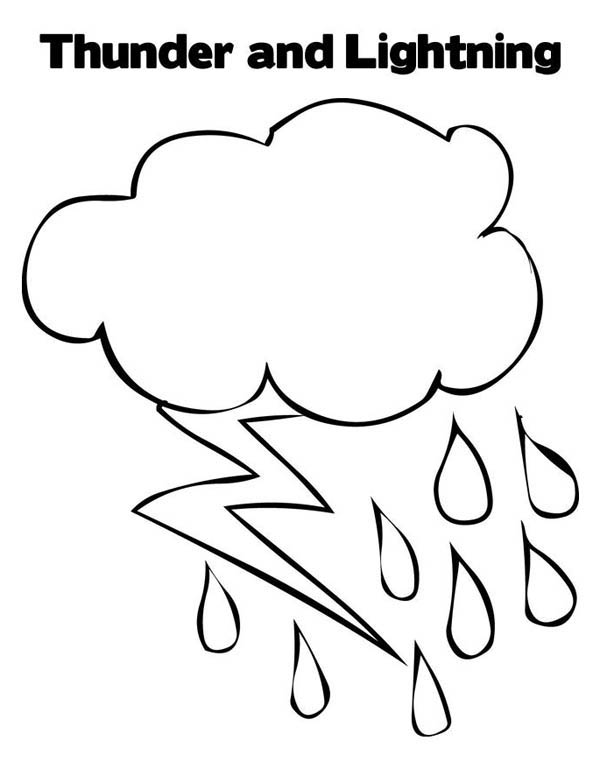 Lightning Bolt, : Thunder and Lighting Bolt Coloring Page