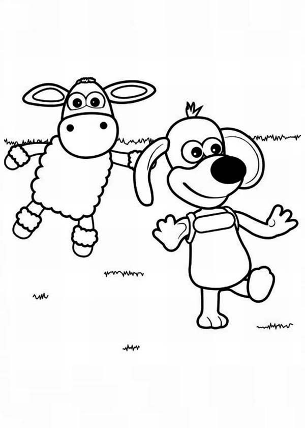 shaun the sheep timmy wander around in shaun the sheep coloring page - Sheep Coloring Page