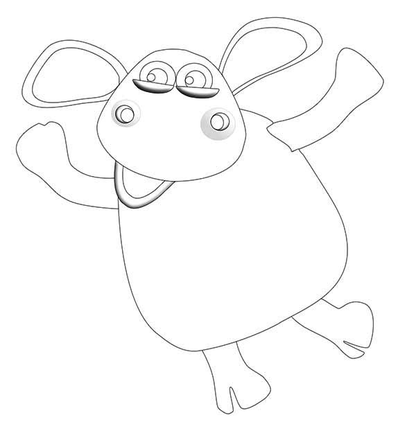 Shaun the Sheep, : Timmy is Shaun the Sheep Cousin Coloring Page