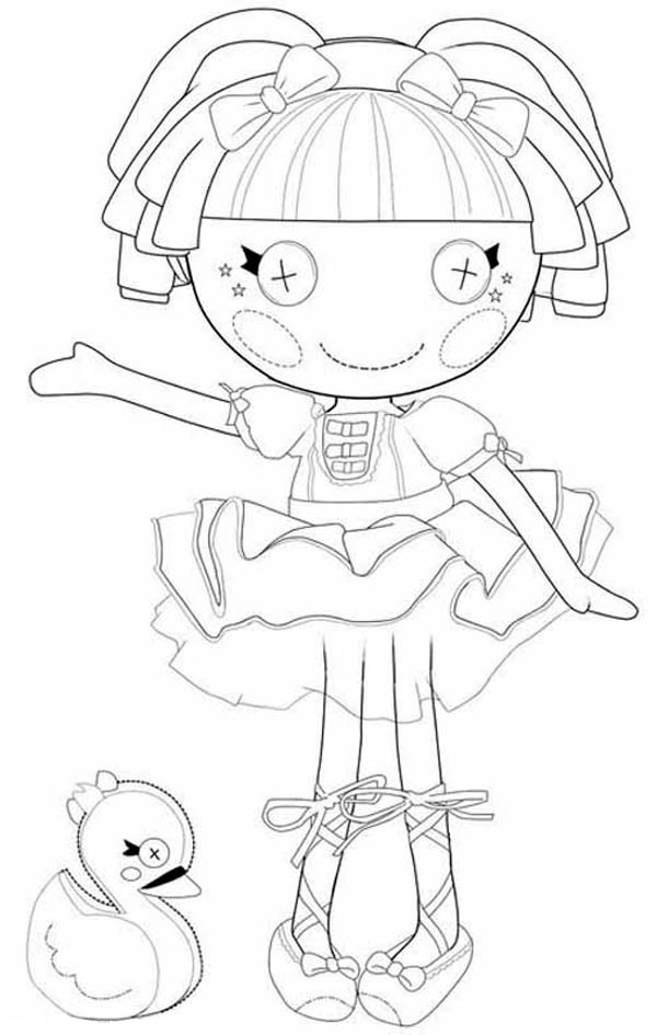 Lalaloopsy Tippy Tumblelina From Coloring Page