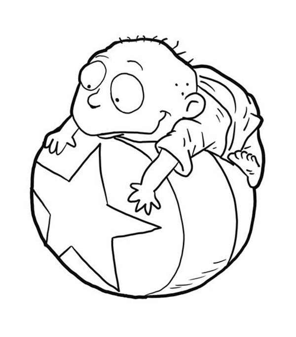 tommy pickles from rugrats coloring page | color luna - Rugrats Characters Coloring Pages
