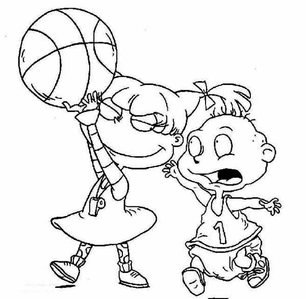 Tommy Want His Ball Angelica Took it in Rugrats Coloring Page ...