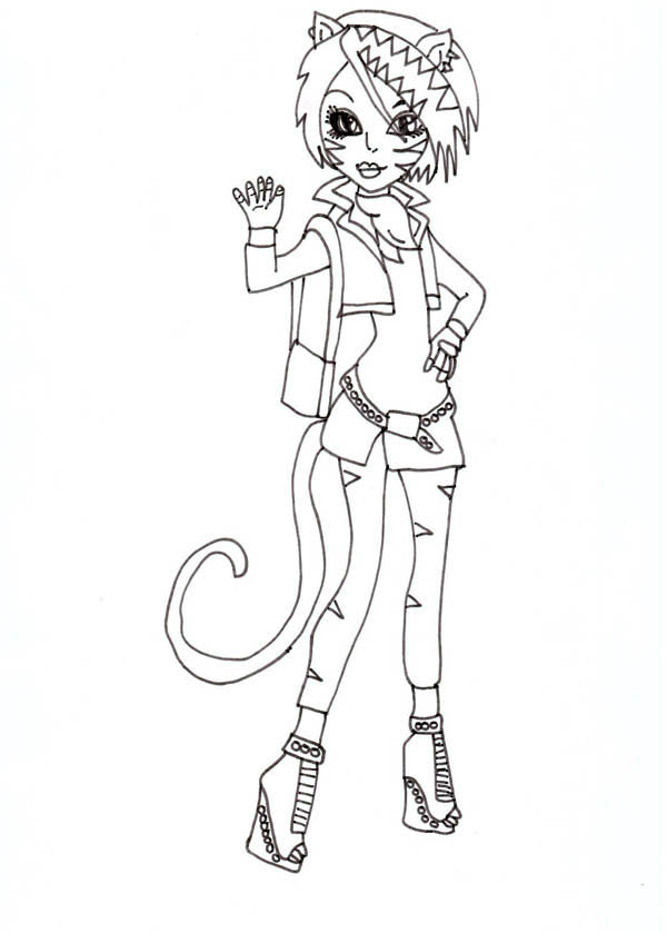 Monster High, : Toralei from Monster High Coloring Page