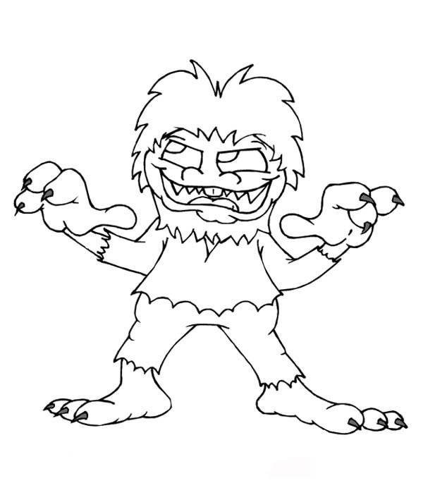 monster dog coloring pages - photo #35