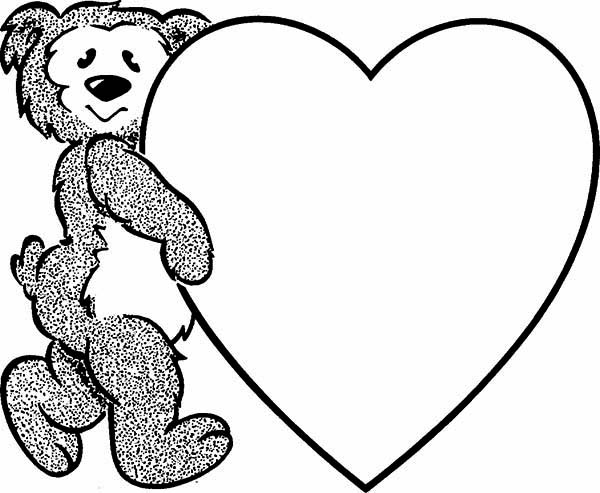 We Love Teddy Bear Coloring Page