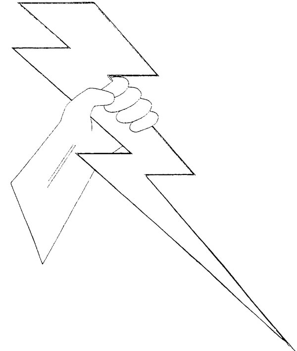 lightning bolt coloring pages | Zeus Lighting Bolt Coloring Page | Color Luna