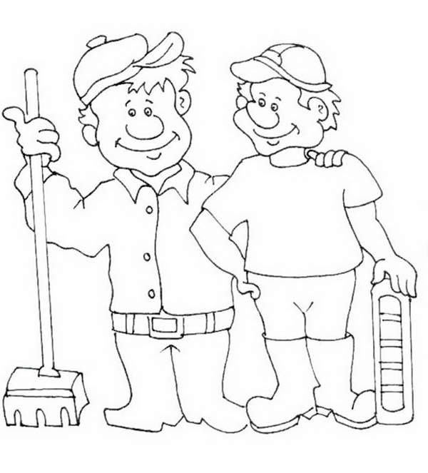 how to draw labor day coloring page - Labor Day Coloring Pages Kids